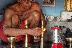The Sadhu who looks after the Temple to Lord Shiva on Chamundi Hill.